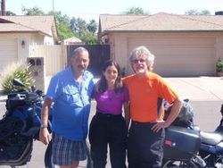 Bikes were shipped to Dave Morach's son's house in Mesa, AZ