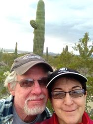 Phil and Nancy selfie at Saguaro National Park