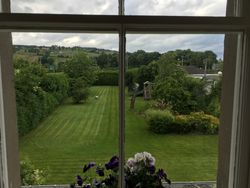 View from our room at Chrialdon House in Beauly