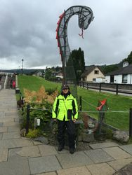 Nessy along the Caledonian Canal in Fort Augustus